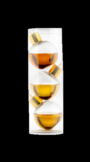 3 Stuks Internationale Whiskey kerstballen / whisky kerstballen